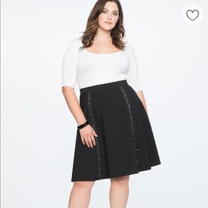 Black Stud Detail Pointe Skirt
